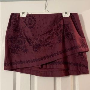 Free People Bandana Mini Skirt